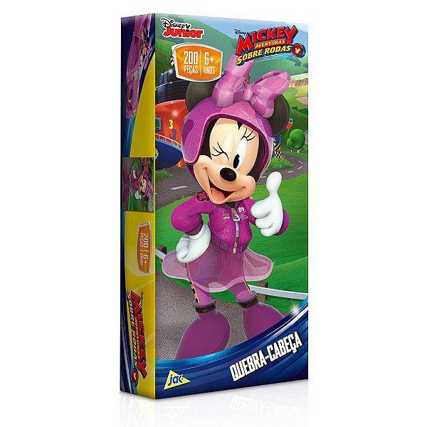 Quebra-Cabeça Aventuras Sobre Rodas - Minnie - 200 peças - Toyster