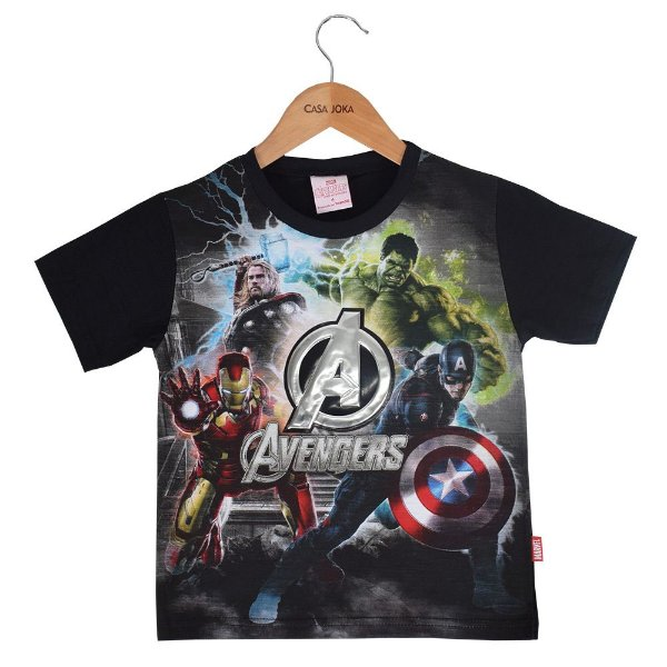 Camiseta Infantil Masculina Avengers - Era de Ultron - Brandili
