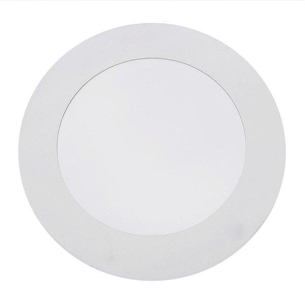 Espelho Redondo Branco 40 cm - Geguton