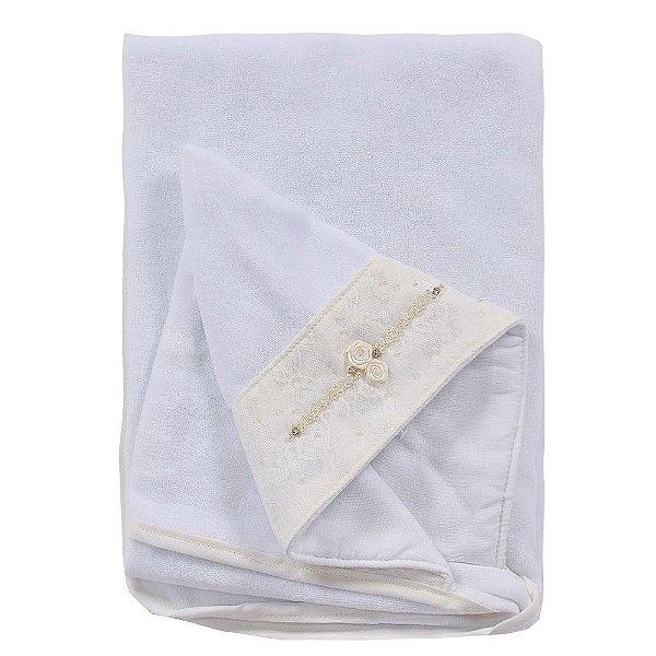 Toalha de Banho Forrada Luxo com Capuz - Roana