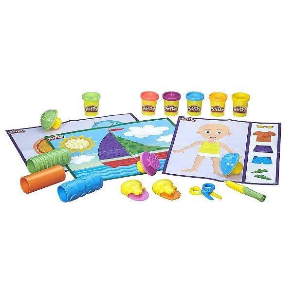 Conjunto Play-Doh Moldar e Aprender - Texturas e Ferramentas - Hasbro
