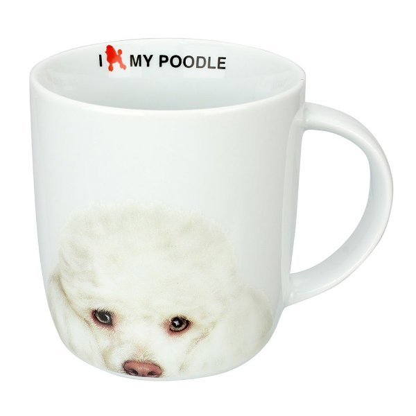 Caneca em Porcelana I Love My Poodle - Dynasty