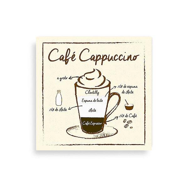 Quadro Decorativo Café Cappuccino - Geguton