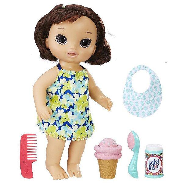 Baby Alive - Sobremesa Mágica - Cabelo Castanho - Hasbro