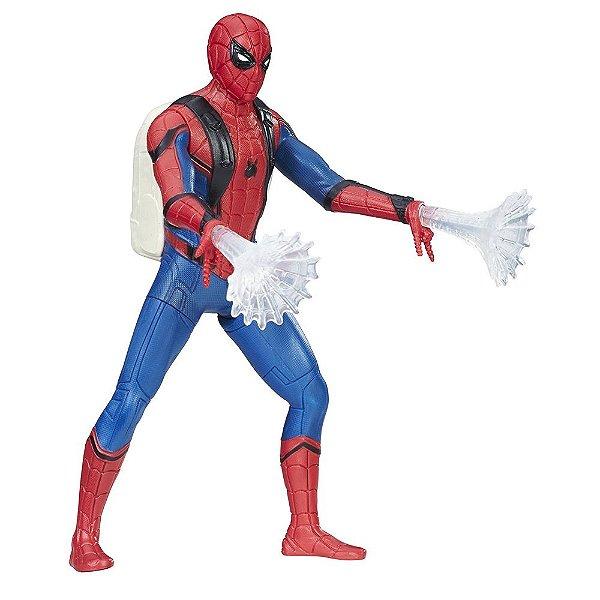 Boneco Homem-Aranha Homecoming - Teia Com Luz - Hasbro