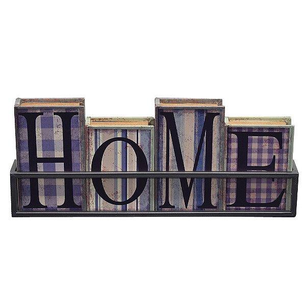 Caixas Livro Decorativo com Suporte Home - Mabruk