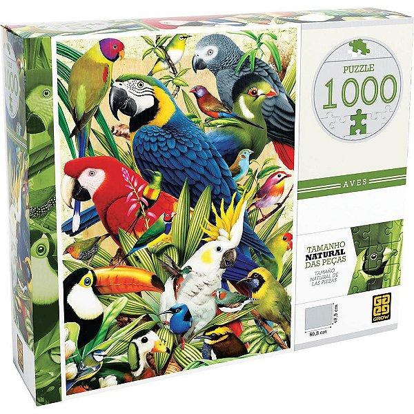 Quebra Cabeça Aves - 1000 Peças - Grow