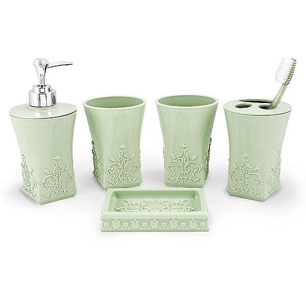Kit de Banheiro Lifestyle - 5 Peças - Verde - Jack Design