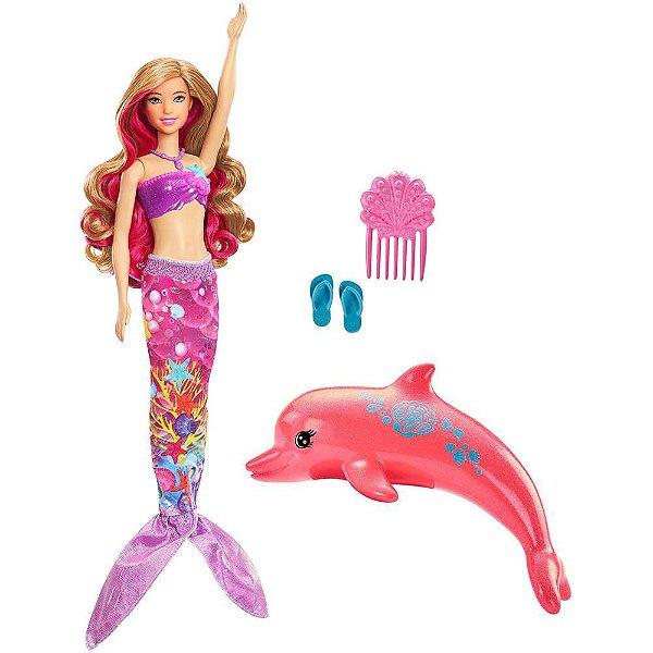 Boneca Barbie Sereia Transformação Mágica - Mattel