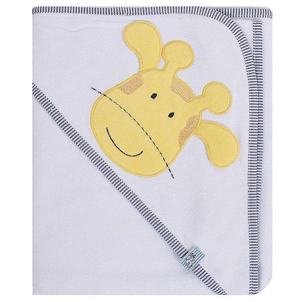 Toalha de Banho com Capuz Girafinha Boy - Bicho Molhado