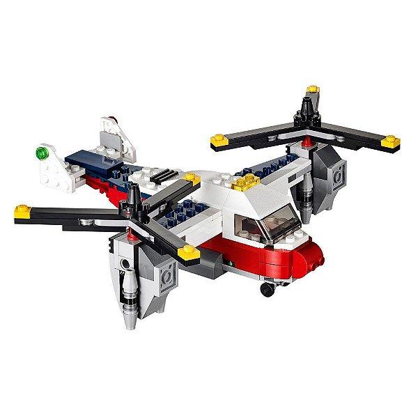 Lego Creator Aventuras com Avião de Duas Hélices
