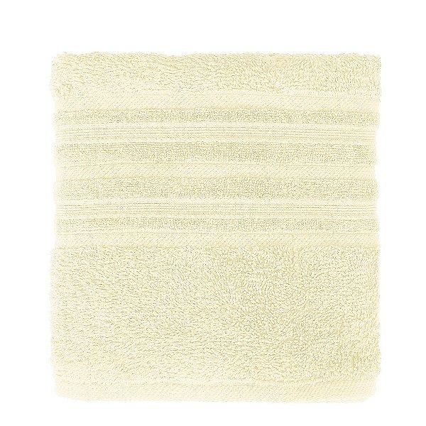 Toalha de Rosto Maxy Fio Penteado - Amarelo Claro - Karsten