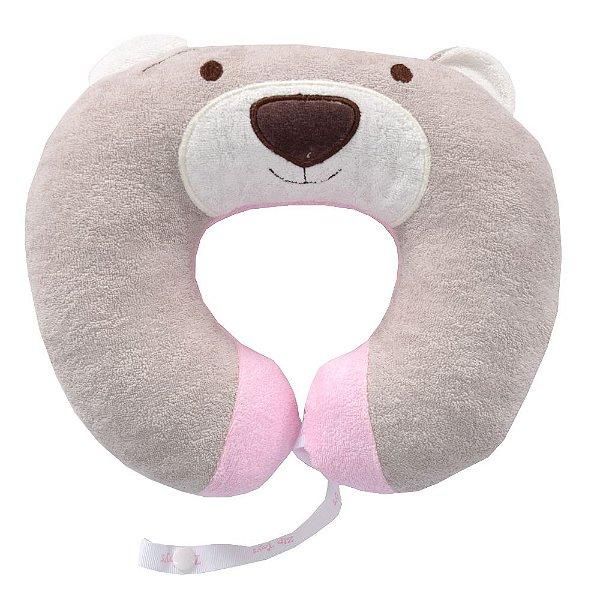 Protetor de Pescoço Urso Nino - Rosa - Zip Toys