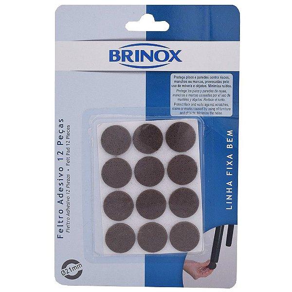 Feltro Adesivo Redondo - 12 peças - Brinox