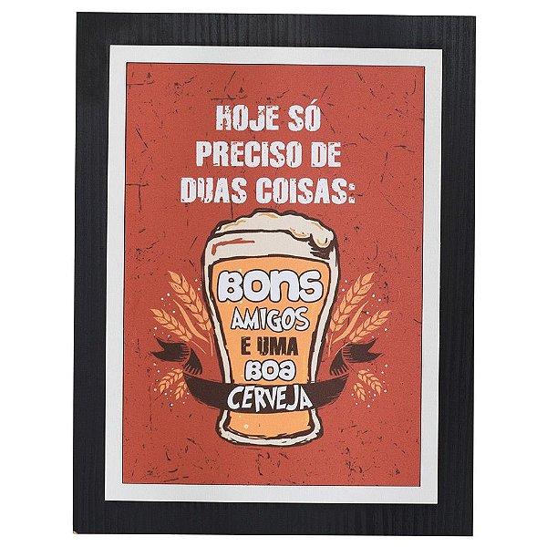 Quadro Decorativo Bons Amigos - 30 x 23 cm