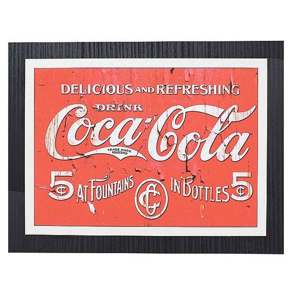 Quadro Decorativo Coca-Cola Refreshing - 30 x 23 cm