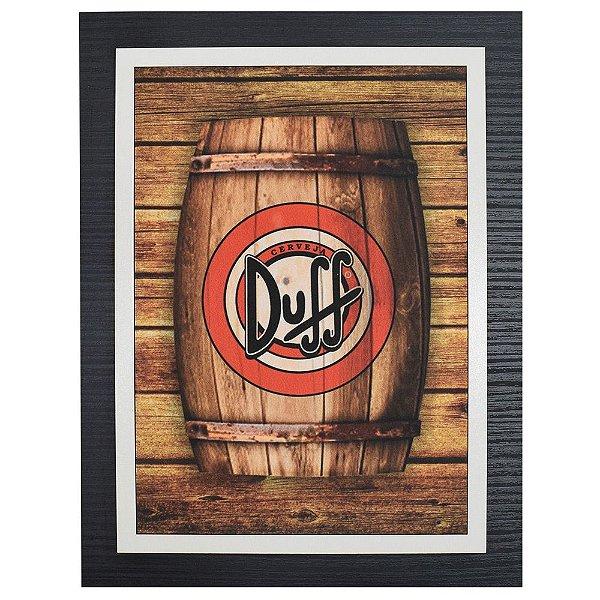 Quadro Decorativo Duff Barril - 30 x 23 cm