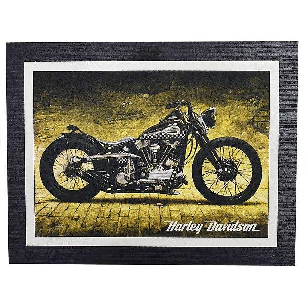 Quadro Decorativo Harley Davidson Night - 30 x 23 cm