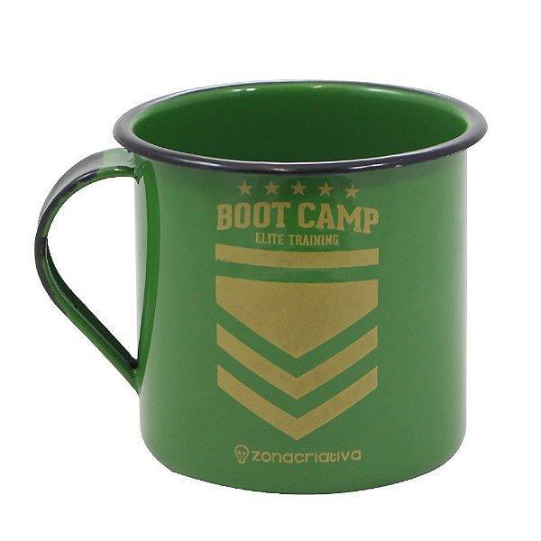Caneca Esmaltada 400ml - Boot Camp - Zona Criativa