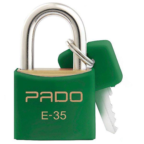 Cadeado com Chaves Colors - E 35mm - Verde - Pado