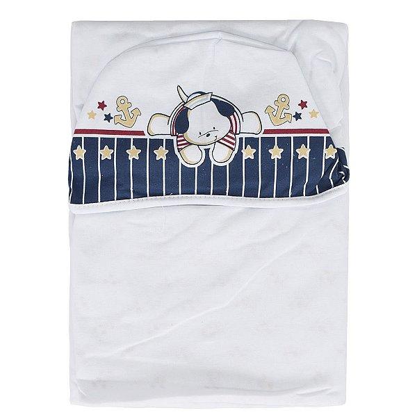Toalha de Banho com Capuz Navy Azul - Colibri