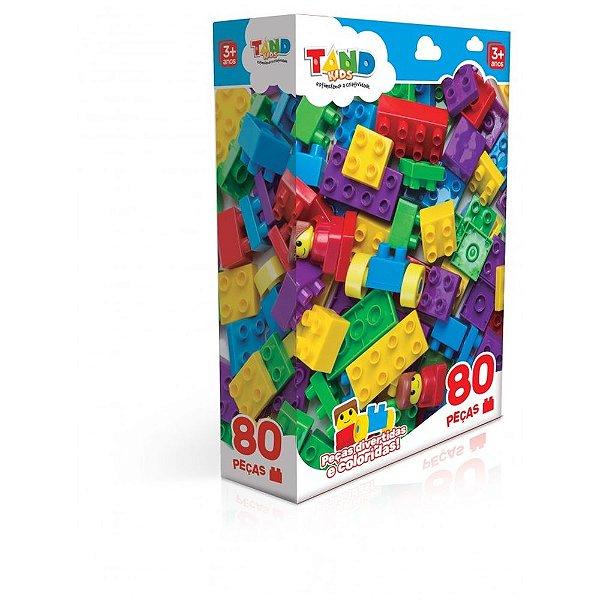 Blocos de Montar Tand Kids - 80 Peças - Toyster