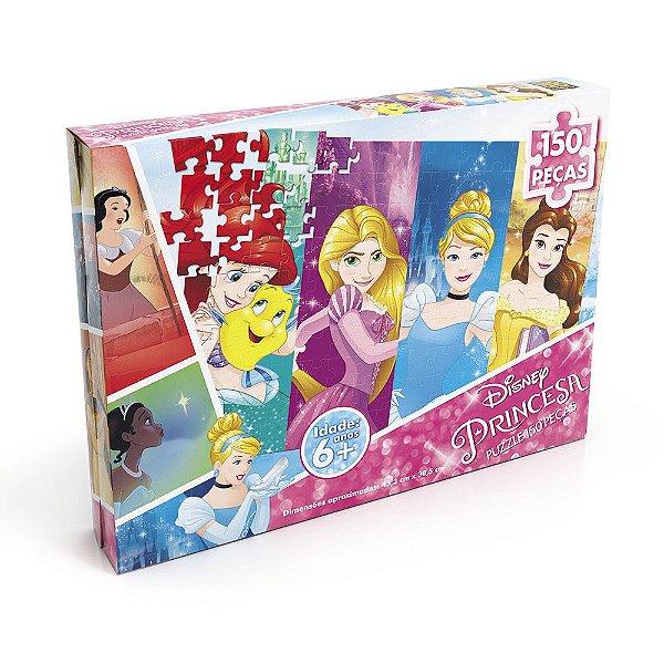 Quebra-Cabeça Princesas da Disney - 150 peças - Grow