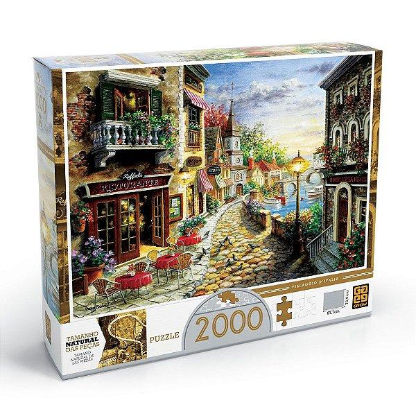Quebra-Cabeça Villaggio D'Itália - 2000 peças - Grow