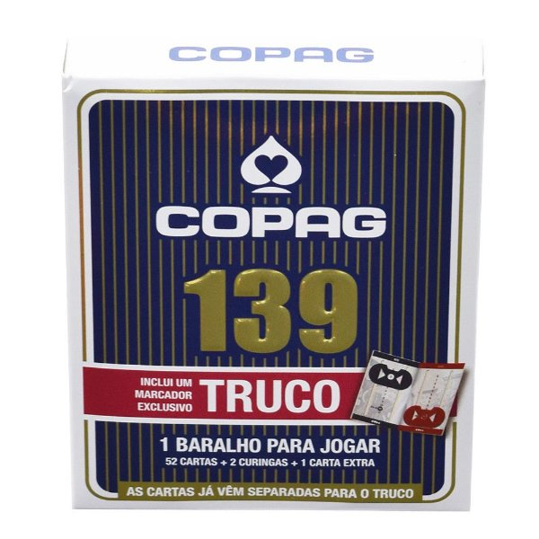 Baralho 139 Truco - Azul - Copag
