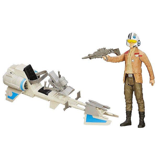 Star Wars O Despertar da Força - Moto Speeder de Poe Dameron - Hasbro
