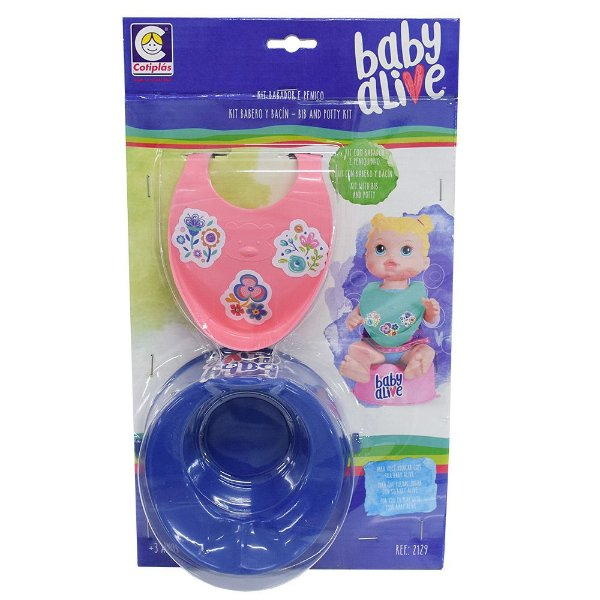 Kit Babador Rosa e Penico Baby Alive - Cotiplás