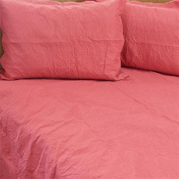 Kit Colcha Arabesque Queen Rosa Escuro - Camesa