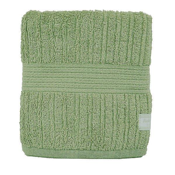 Toalha de Rosto Canelada Fio Penteado - Verde Aspargo - Buddemeyer