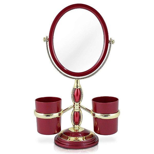 Conjunto de Espelho de Mesa - Vinho - Jacki Design
