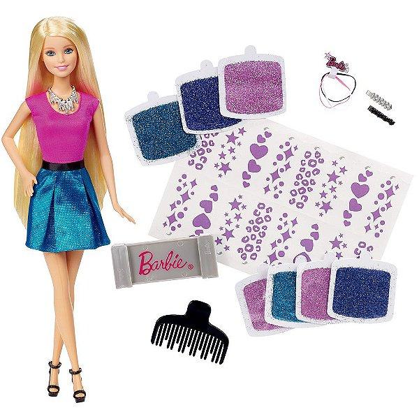 Barbie Cabelos com Glitter - Mattel