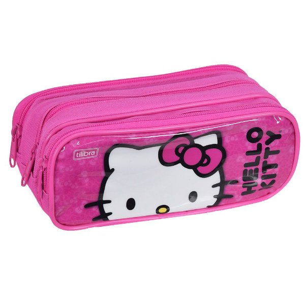 Estojo Triplo Hello Kitty - Tilibra