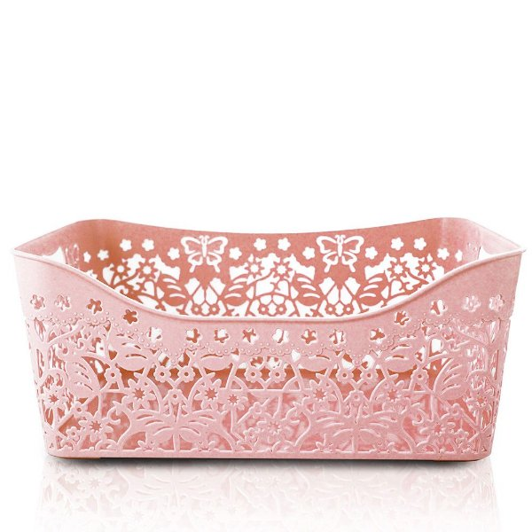 Cesto Organizador Lifestyle Grande Rosa - Jacki Design