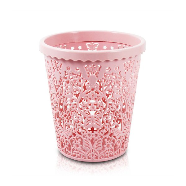 Cesto Organizador Lifestyle Redondo Pequeno Rosa - Jacki Design