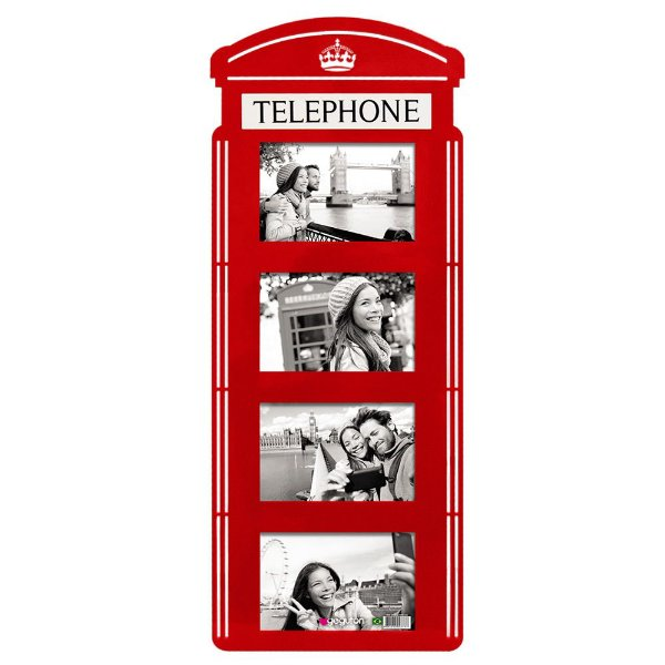 Porta Retrato de Parede Cabine Telefônica - Geguton