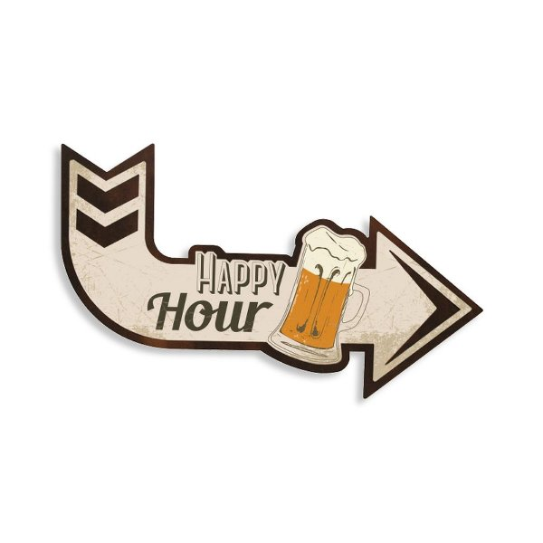 Quadro Decorativo Seta Happy Hour - Geguton