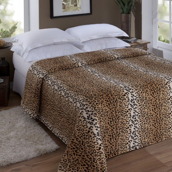 Manta Microfibra King Leopardo - Jolitex