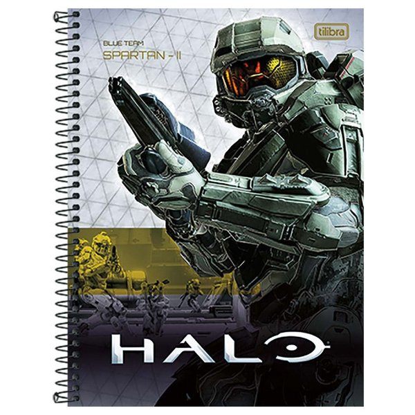Caderno Halo - Blue Team Spartan-II - 10 matérias - Tilibra