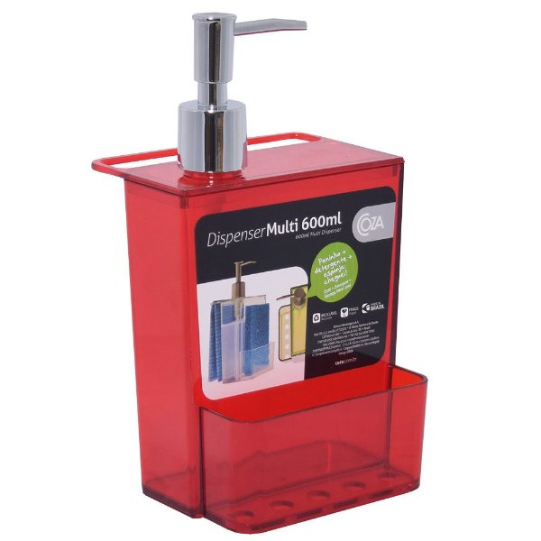 Dispenser Multiuso Vermelho - 600ml - Coza
