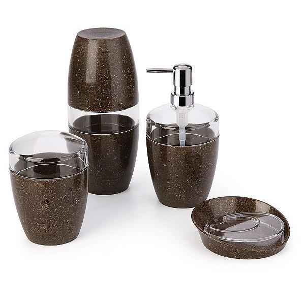Conjunto para Banheiro Eco - Madeira - 4 Peças