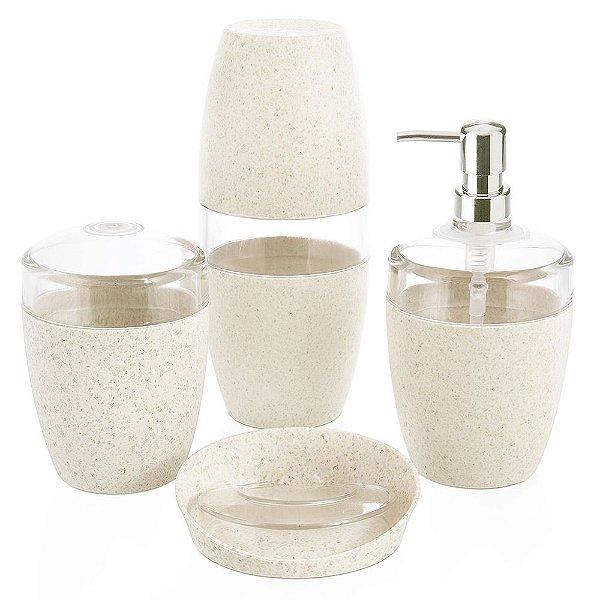 Conjunto para Banheiro Eco - Marfim - 4 Peças