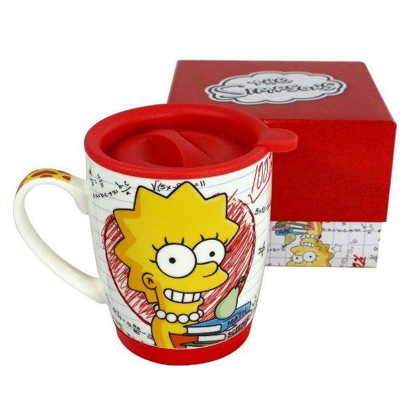 Caneca Com Tampa - Team Lisa Simpson - The Simpsons