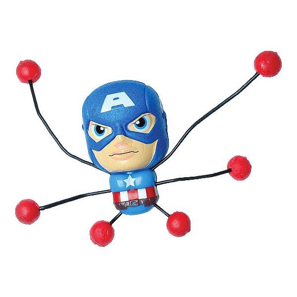 Boneco Pegajoso Avengers - Capitão América - Candide