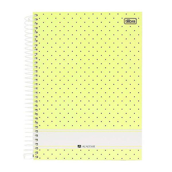 Caderno Académie Amarelo - 10 Matérias - Tilibra