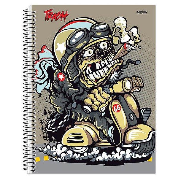 Caderno Trash Monstro Piloto - 10 matérias