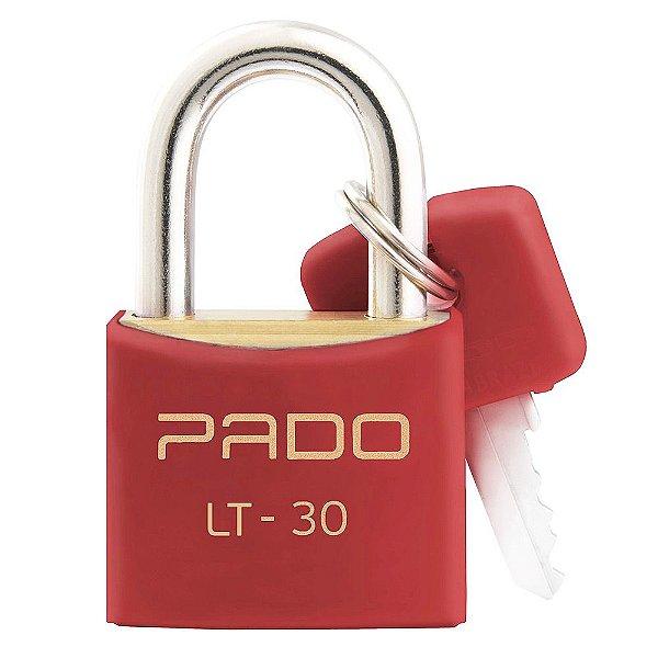 Cadeado Com Chaves Colors - LT 30mm - Vermelho - Pado
